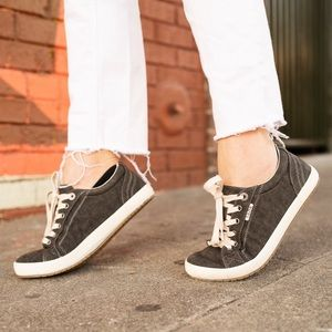 Taos Footwear washed black canvas Star sneakers 9